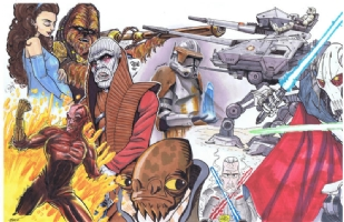 Star Wars Episode III (Revenge of the Sith) Jam: left side Comic Art